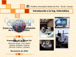 Consultoria - Ing. Informática