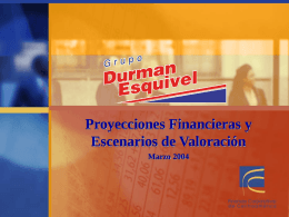 Proyecciones Financieras y Escenarios de