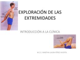 EXPLORACIÓN DE LAS EXTREMIDADES