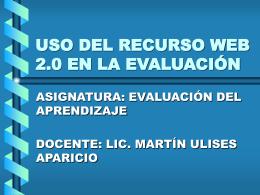 USO DEL RECURSO WEB 2.0 EN LA EVALUACIÓN