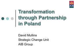 Transformation through Partnership in Poland