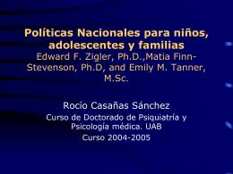 Políticas Nacionales para niños, adolescentes y