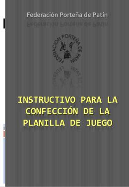 INSTRUCTIVO PARA LA CONFECCIÓN DE LA PLANILLA DE