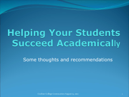 Helping YourStudents Succeed Academically