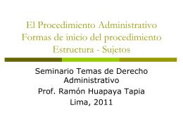 Procedimientos Administrativos y Simplificación