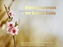 Bienaventuranzas el Sábado Santo