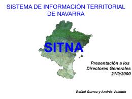 Presentación del SITNA a los Directores Generales