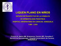 LIQUEN PLANO EN NIÑOS - Dermatologia Pediatrica