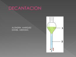 DECANTACION - Tecnologías Químicas Alimentos. |