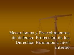 Mecanismos y Procedimientos de defensa: Protección