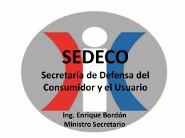 SEDECO Secretaría de Defensa del Consumidor y el