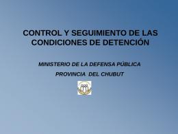 EXPERIENCIA DEL MINISTERIO DE LA DEFENSA PÚBLICA
