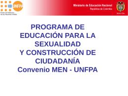 EDUCACIÓN PARA LA SEXUALIDAD Y CONTRUCCIÓN DE