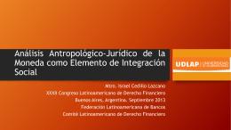 Análisis Antropológico-Jurídico de la Moneda como