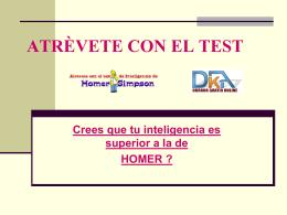 ATRÈVETE CON EL TEST