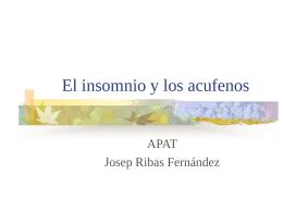 El sueño y los acufenos - Josep Ribas