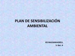 PLAN DE SENSIBILIZACIÓN AMBIENTAL