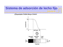 Sistema de adsorción de lecho fijo