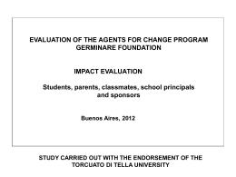 Diapositiva 1 - Fundación Germinare