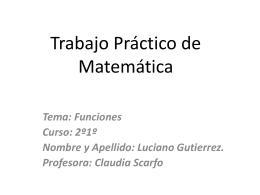 Trabajo Práctico de Matemática