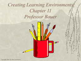 PowerPoint Presentation - Classroom Management