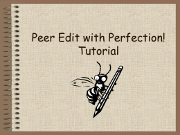 Peer Editing with Perfection! tutorial -