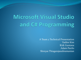 Programming in C# - Michigan State University