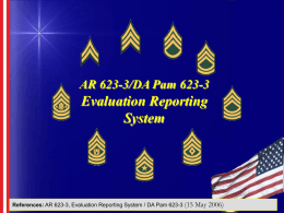 Noncommissioned Officer Evaluation Reporting