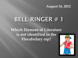 Bell Ringer # 1 - Simpson County Schools