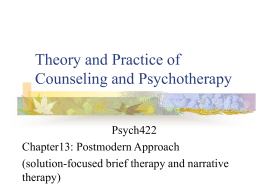 Theory and Practice of Counseling and