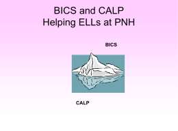 BICS AND CALP = two different registers of English