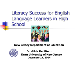 Literacy Success for English Language Learners in