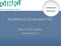 Architecture Ecosystem SIG
