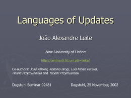 Languages of Updates - University of Liverpool