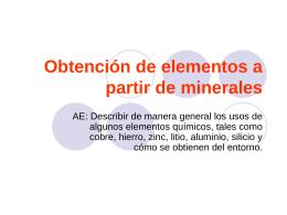 Obtención de elementos a partir de minerales