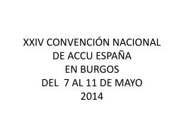 XXIV CONVENCIÓN NACIONAL DE ACCU ESPAÑA EN BURGOS