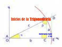 Inicios de la Trigonometría