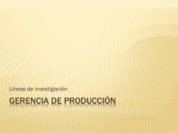 Gerencia de Producción