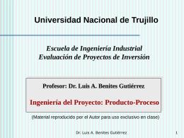 Producto, Proceso de Producción