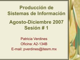 Producción de Sistemas de Información