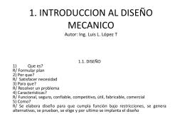 INTRODUCCION DISEÑO MECANICO