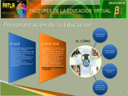 FACTORES DE EDUCACIÓN VIRTUAL