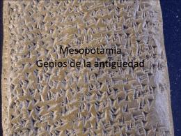 Mesopotamia Genios de la antigüedad