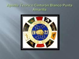 Apunte Teórico Cinturón Blanco Punta Amarilla