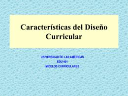 Características del Marco curricular
