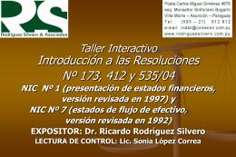 Marco Teórico Resolución 173/04