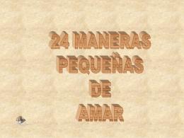 24 MANERAS PEQUEÑAS DE AMAR