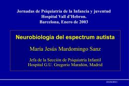 Neurobiología del spectrum autista