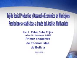 Diapositiva 1 - Economía Institucional | Luis