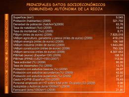 PRINCIPALES DATOS SOCIOECONÓMICOS COMUNIDAD